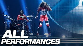 Rapper Flau'jae Raps With A Message (All Performances) - America's Got Talent 2018