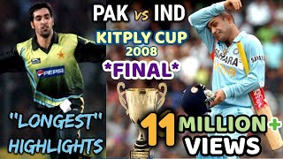 KITPLY Cup *FINAL* --- INDIA vs PAKISTAN || THE MOTHER of ALL FINAL in WORLD CRICKET || 2008 DHAKA