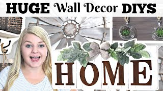 HUGE DIY Dollar Tree Wall Decor IDEAS for your HOME! | High-End Dollar Tree Farmhouse DIYS 2020