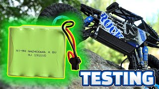 4.8v Battery Pack 2400mAh for RC Car AA NI-MH Rechargeable Battery from Aliexpress Unboxing & Test